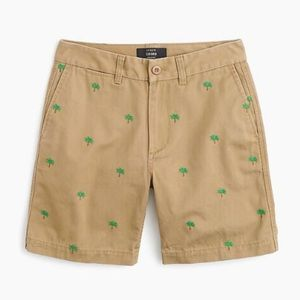 J Crew Boyfriend Fit Preppy Palm Tree Chino Shorts